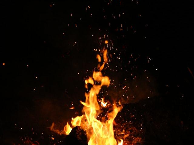En brinnande eld